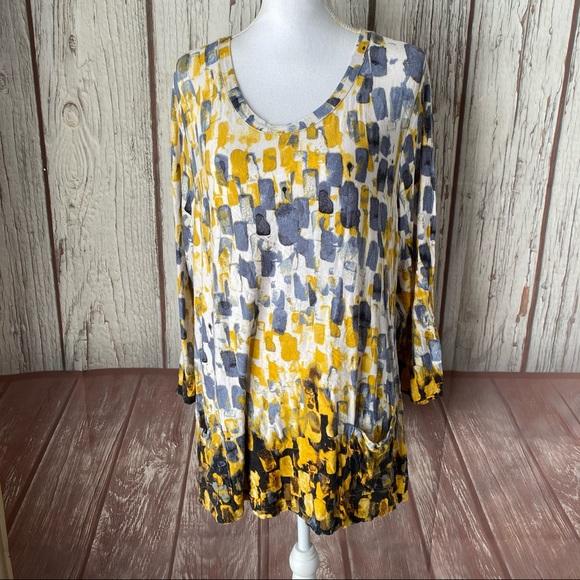 LOGO Lori Goldstein tunic size XL